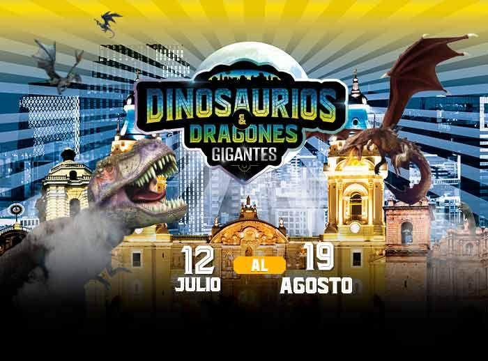 Dinosaurios y dragones gigantes - Plaza Norte
