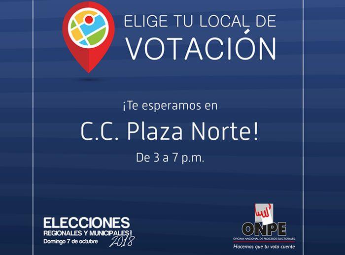 Conoce tu lugar de votación  - Plaza Norte