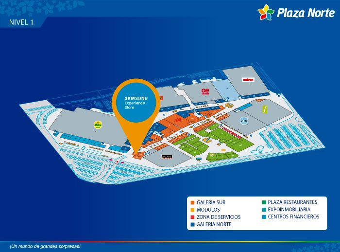Samsung - Mapa de Ubicación - Plaza Norte
