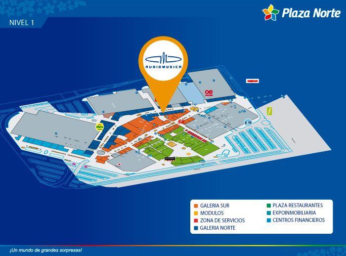 AudioMusica - Mapa de Ubicación - Plaza Norte