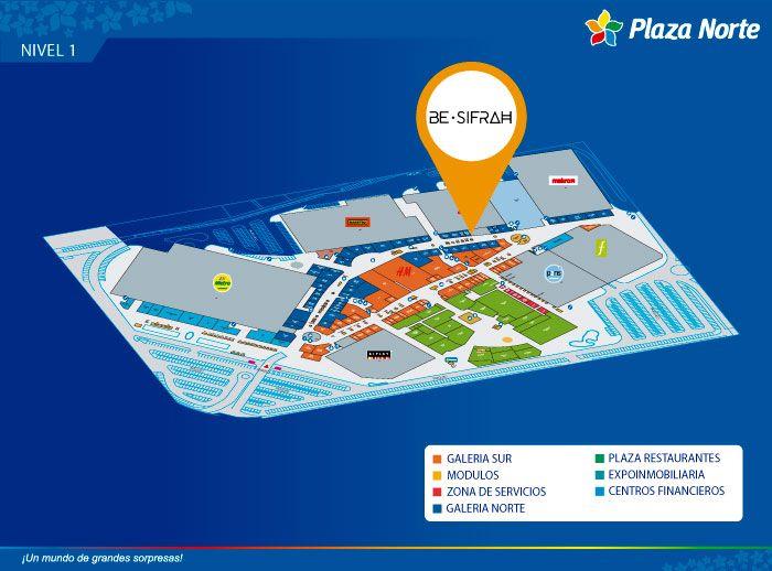Be Sifrah  - Mapa de Ubicación - Plaza Norte