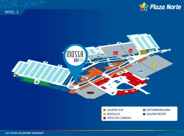 Mossa Kids  - Mapa de Ubicación - Plaza Norte