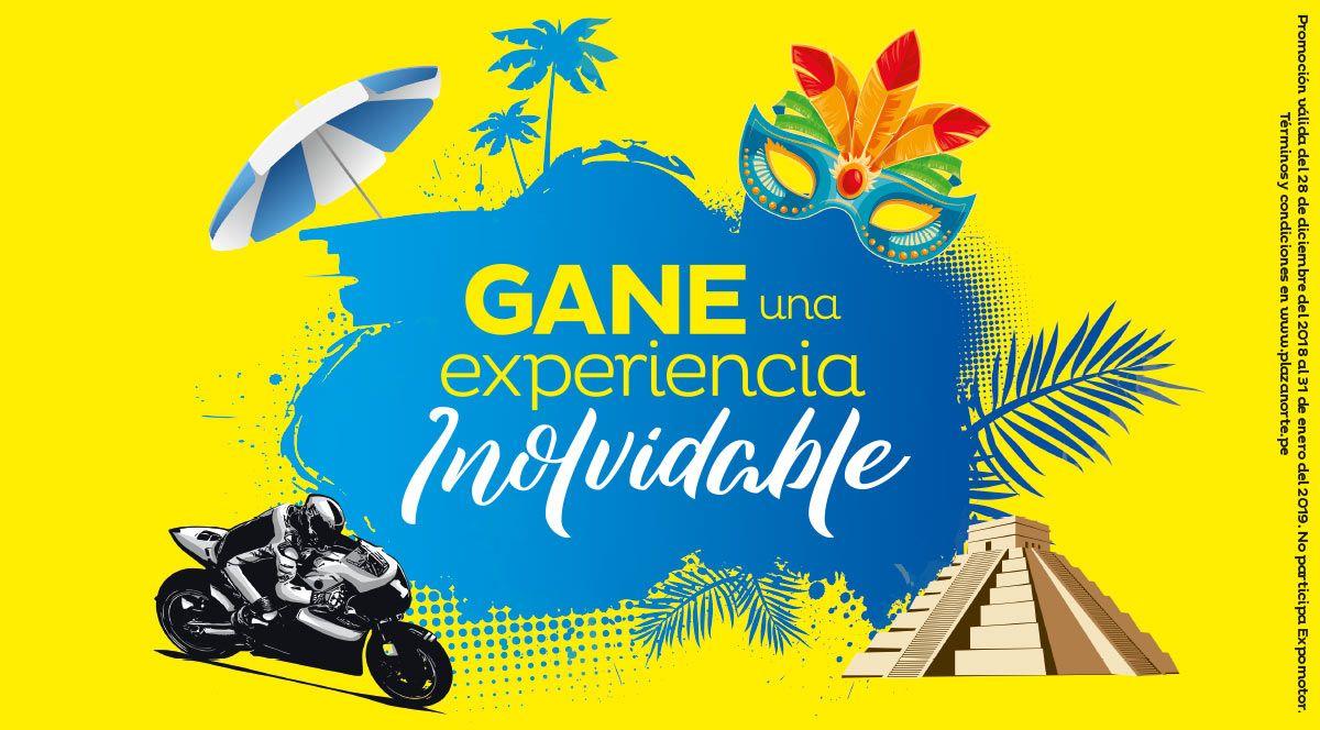 GANE UNA EXPERIENCIA INOLVIDABLE - Plaza Norte