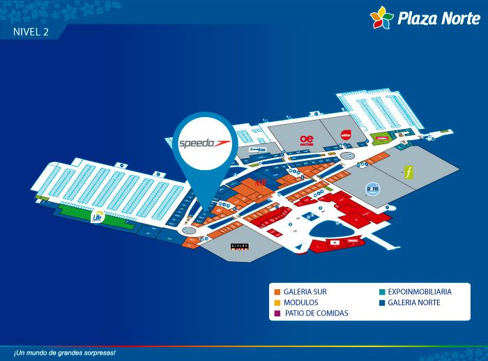 SPEEDO - Mapa de Ubicación - Plaza Norte