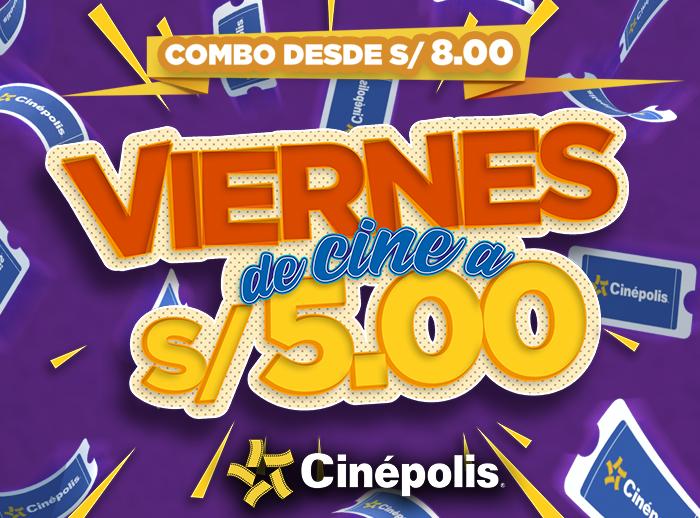 ¡VIERNES DE CINE A S/5.00! - Plaza Norte