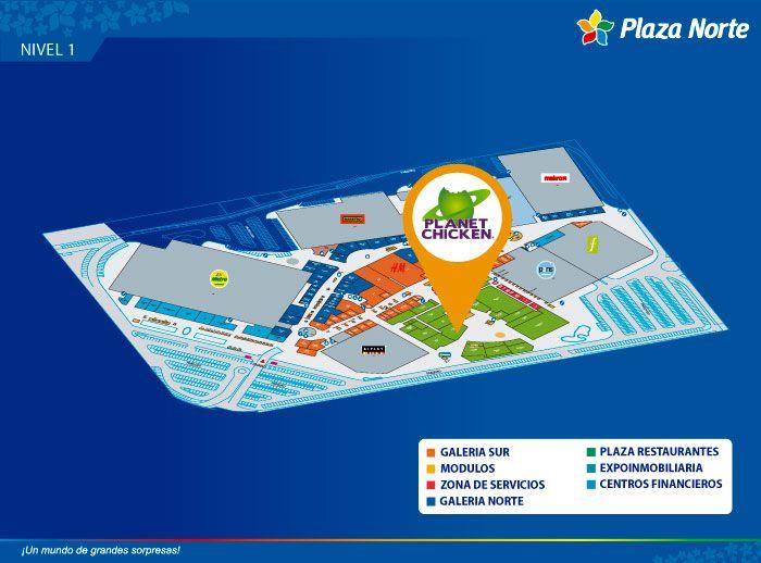 PLANET CHICKEN - Mapa de Ubicación - Plaza Norte