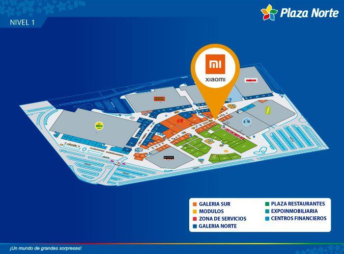 XIAOMI  - Mapa de Ubicación - Plaza Norte