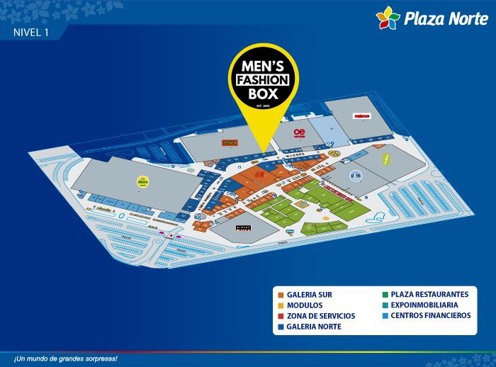 Men's Fashion Box - Mapa de Ubicación - Plaza Norte