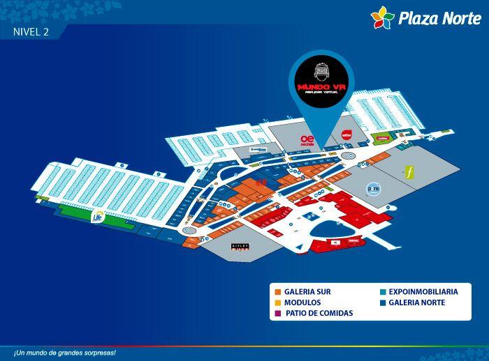 MUNDO VR  - Mapa de Ubicación - Plaza Norte