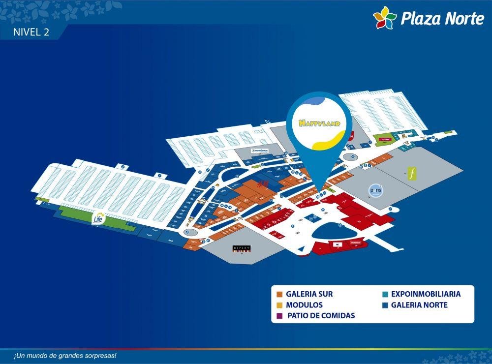 HAPPY LAND - Mapa de Ubicación - Plaza Norte