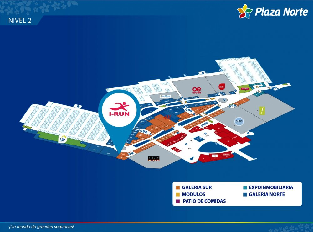 I RUN  - Mapa de Ubicación - Plaza Norte
