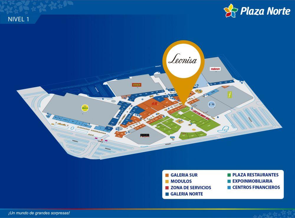 LEONISA - Mapa de Ubicación - Plaza Norte