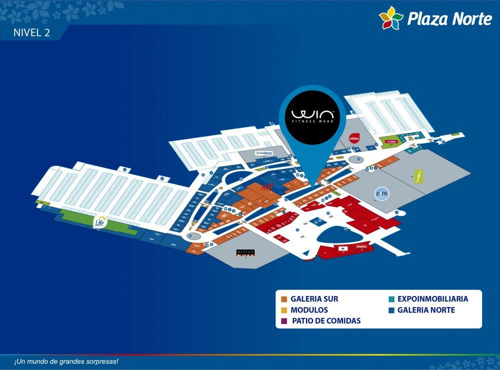 WIN FITNESS WEAR - Mapa de Ubicación - Plaza Norte
