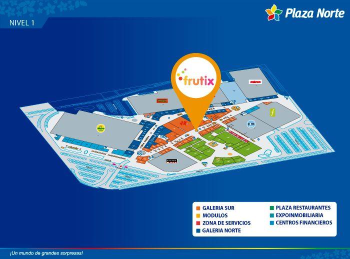 FRUTIX - Mapa de Ubicación - Plaza Norte