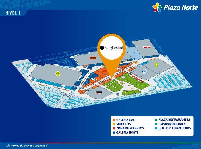 Sunglass Hut - Mapa de Ubicación - Plaza Norte