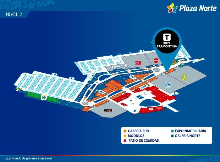 TRAMONTINA STORE - Mapa de Ubicación - Plaza Norte