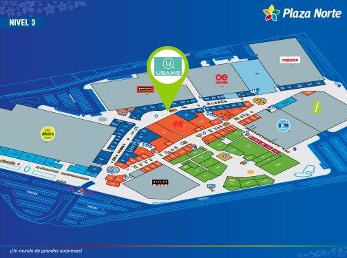 USAMS - Mapa de Ubicación - Plaza Norte