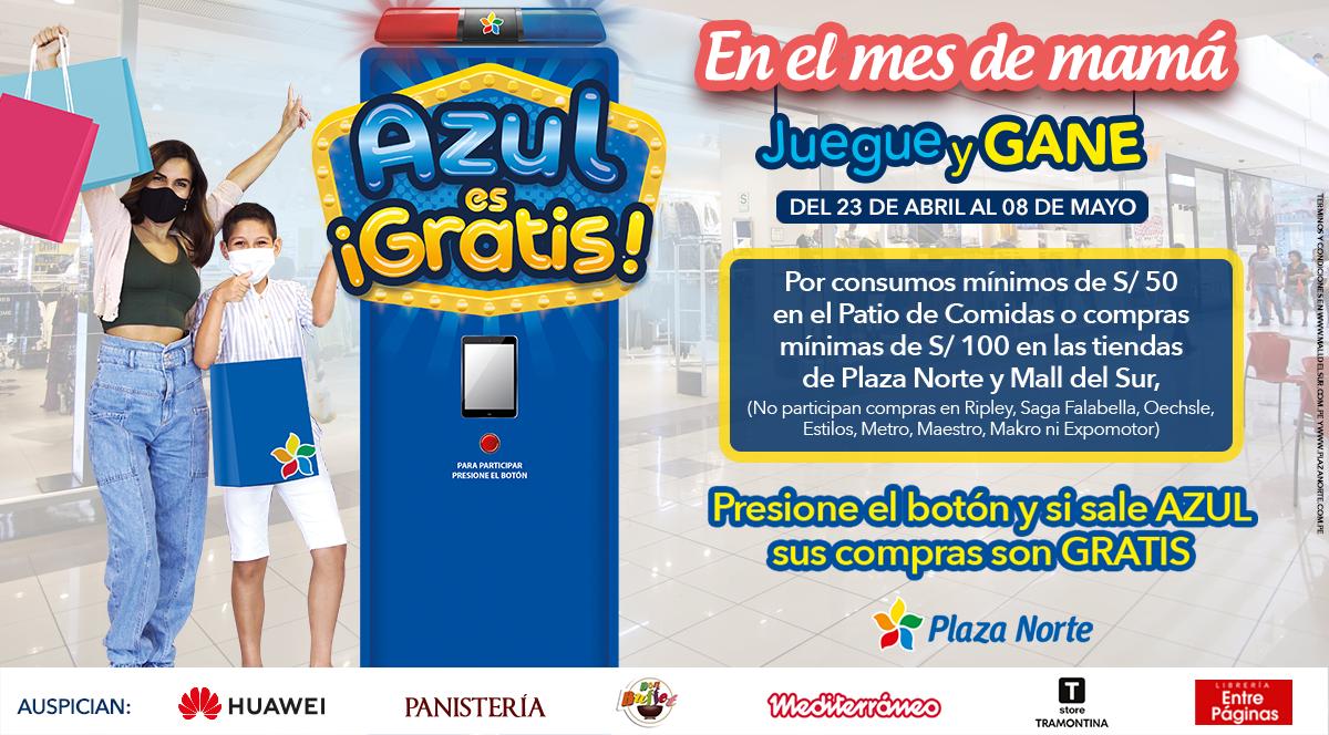 Azul es gratis  - Plaza Norte