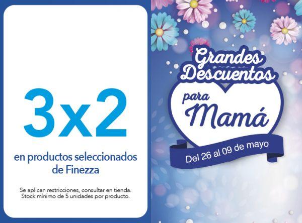 3X2 EN PRODUCTOS SELECCIONADOS DE FINEZZA - FINEZZA - Plaza Norte