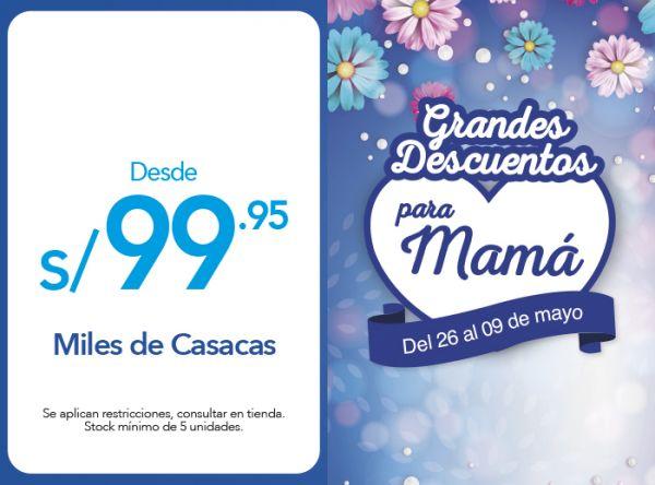 MILES DE CASACAS DESDE S/99.95 - Plaza Norte