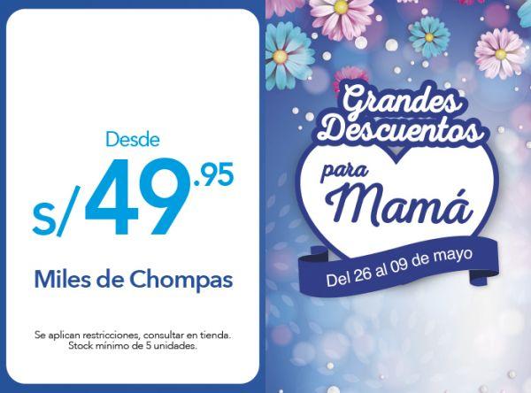 MILES DE CHOMPAS DESDE S/.49.95 - Plaza Norte