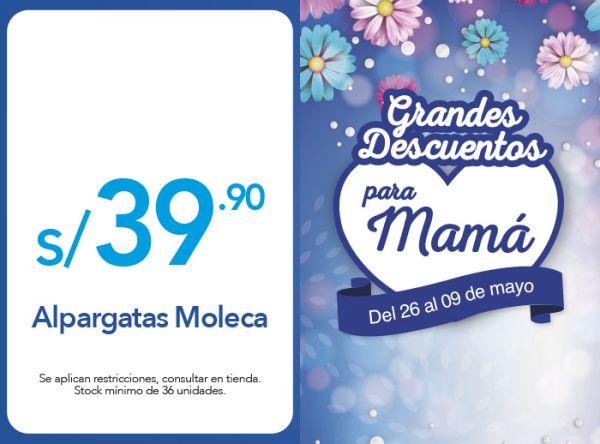 ALPARGATAS MOLECA A S/39.90 - Sdely - Plaza Norte