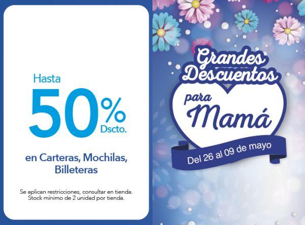 HASTA 50% DSCTO. EN CARTERAS, MOCHILAS, BILLETERAS - Plaza Norte