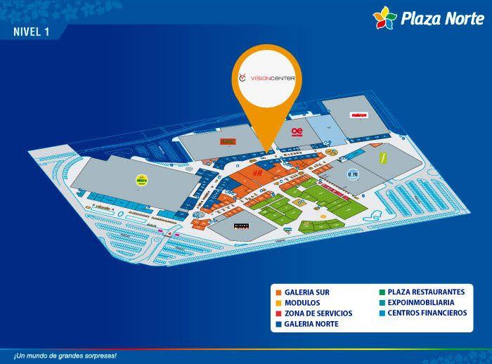 VISION CENTER - Mapa de Ubicación - Plaza Norte
