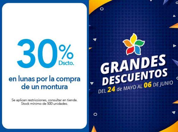 30% DSCTO. LUNAS POR LA COMPRA DE UNA MONTURA - Plaza Norte