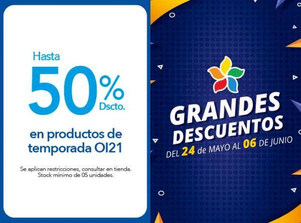 HASTA 50% DSCTO. EN PRODUCTOS DE TEMPORADA OI21 - Plaza Norte