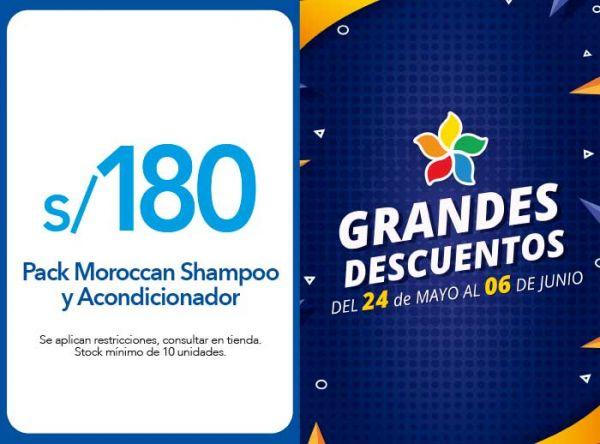 PACK SHAMPOO Y ACONDICIONADOR MOROCCAN A S/ 180.00 - Soleil - Plaza Norte