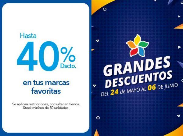 HASTA 40% DSCTO. EN PRODUCTOS SELECCIONADOS - Plaza Norte