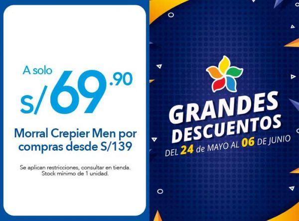 MORRAL CREPIER MEN A S/ 69.00 POR COMPRAS DESDE S/ 139.00 -  CREPIER - Plaza Norte