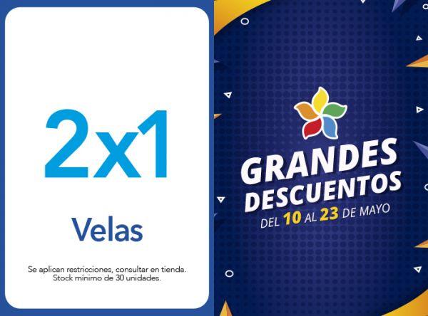 VELAS 2 X 1 - BOMBON ROJO - Plaza Norte