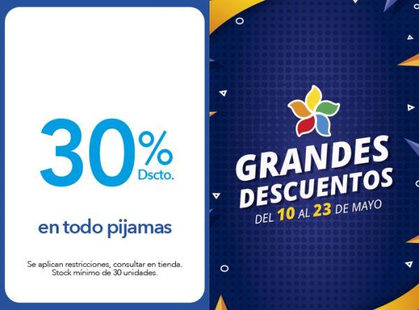 30 % DSCTO. EN TODO PIJAMAS  - BOMBON ROJO - Plaza Norte