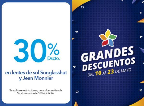 30% EN LENTES DE SOL SUNGLASSHUT Y JEAN MONNIER - ECONOPTICAS - Plaza Norte