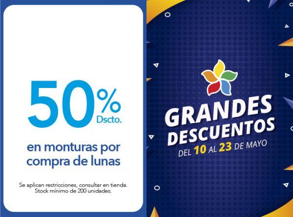 50% DSCTO. EN MONTURAS POR COMPRA DE LUNAS  - Plaza Norte