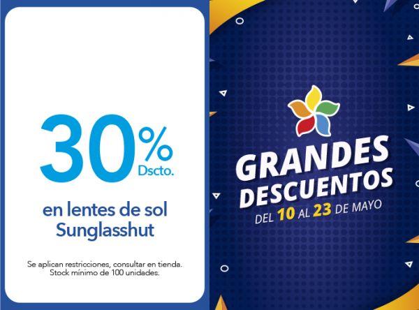 30% DSCTO. EN LENTES DE SOL SUNGLASSHUT  - Plaza Norte