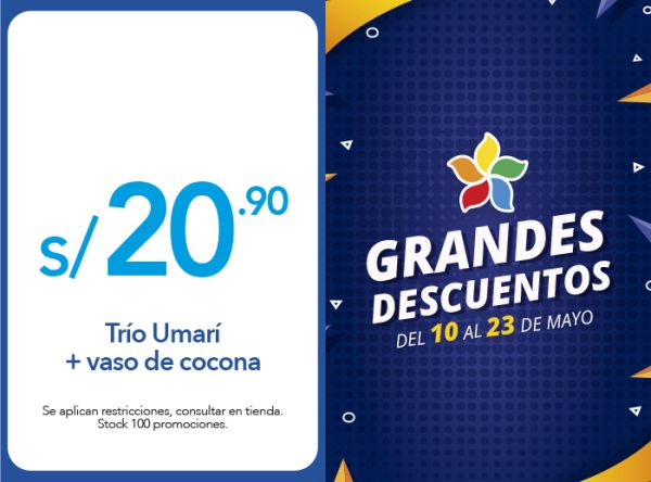 TRÍO UMARÍ + VASO DE COCONA A S/20.90 - LA CHOZA DE LA ANACONDA - Plaza Norte