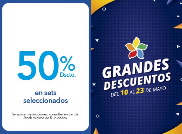 50% DSCTO. EN SETS SELECCIONADOS - Plaza Norte