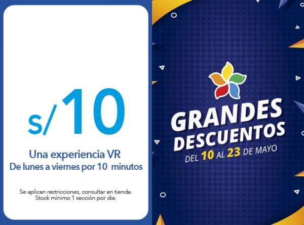 UNA EXPERIENCIA VR POR S/10.00.DE LUNES A VIERNES POR 10  MINUTOS - MUNDO VR  - Plaza Norte