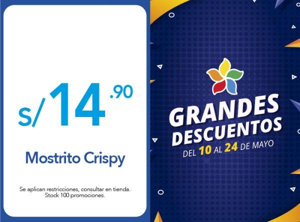 MOSTRITO CRISPY A S/ 14.90 - Plaza Norte