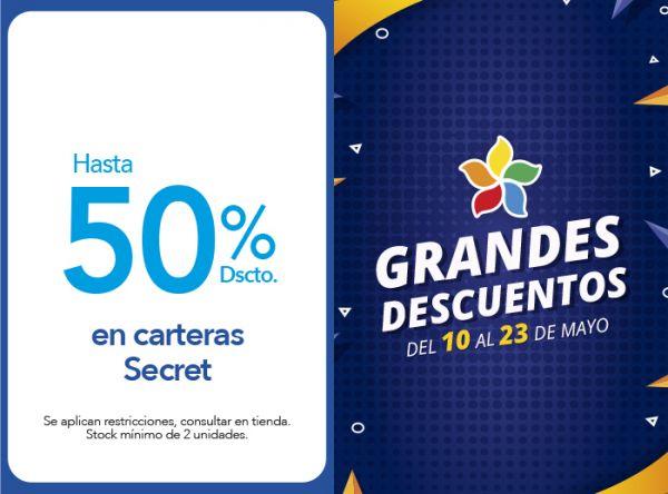 HASTA 50% DSCTO. EN CARTERAS SECRET - Plaza Norte