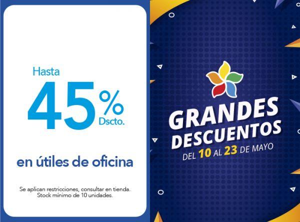 HASTA 45% DSCTO. EN ÚTILES DE OFICINA - Plaza Norte