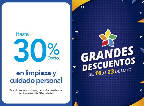 HASTA 30% DSCTO. EN LIMPIEZA Y CUIDADO PERSONAL - Plaza Norte