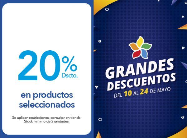 20% DSCTO.EN PRODUCTOS SELECCIONADOS - Plaza Norte