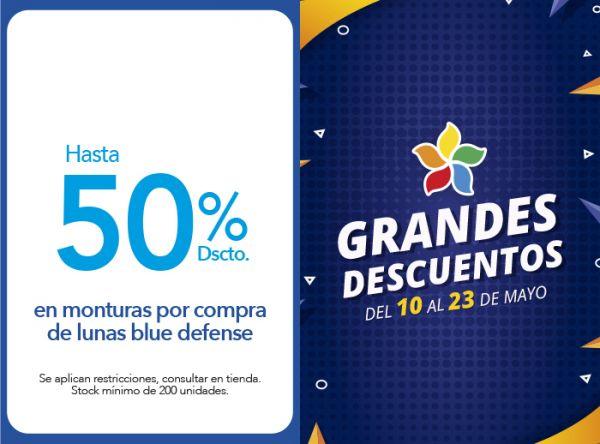 HASTA 50% DSCTO. EN MONTURAS POR COMPRA DE LUNAS BLUE DEFENSE - VISION CENTER - Plaza Norte