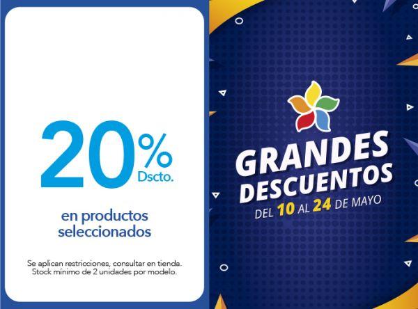 20% DSCTO. EN PRODUCTOS SELECCIONADOS. - Plaza Norte