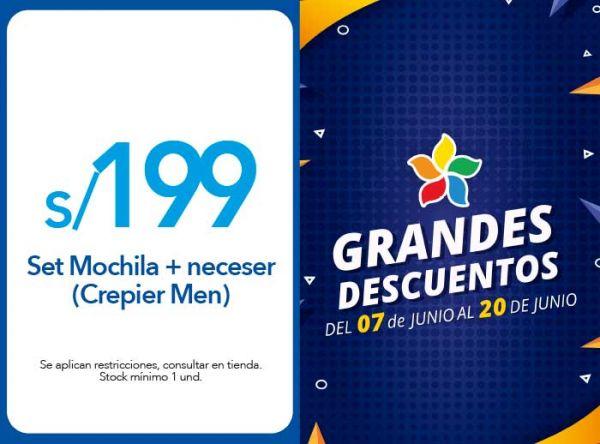 SET MOCHILA + NECESER A S/199 (CREPIER MEN) -  CREPIER - Plaza Norte