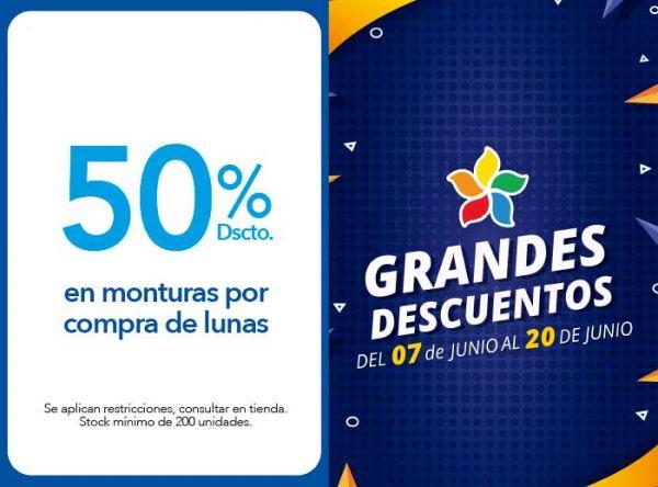 50% DSCTO.EN MONTURAS POR COMPRA DE LUNAS - Plaza Norte